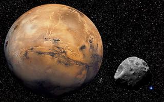 Mars & Phobos [1680x1050]