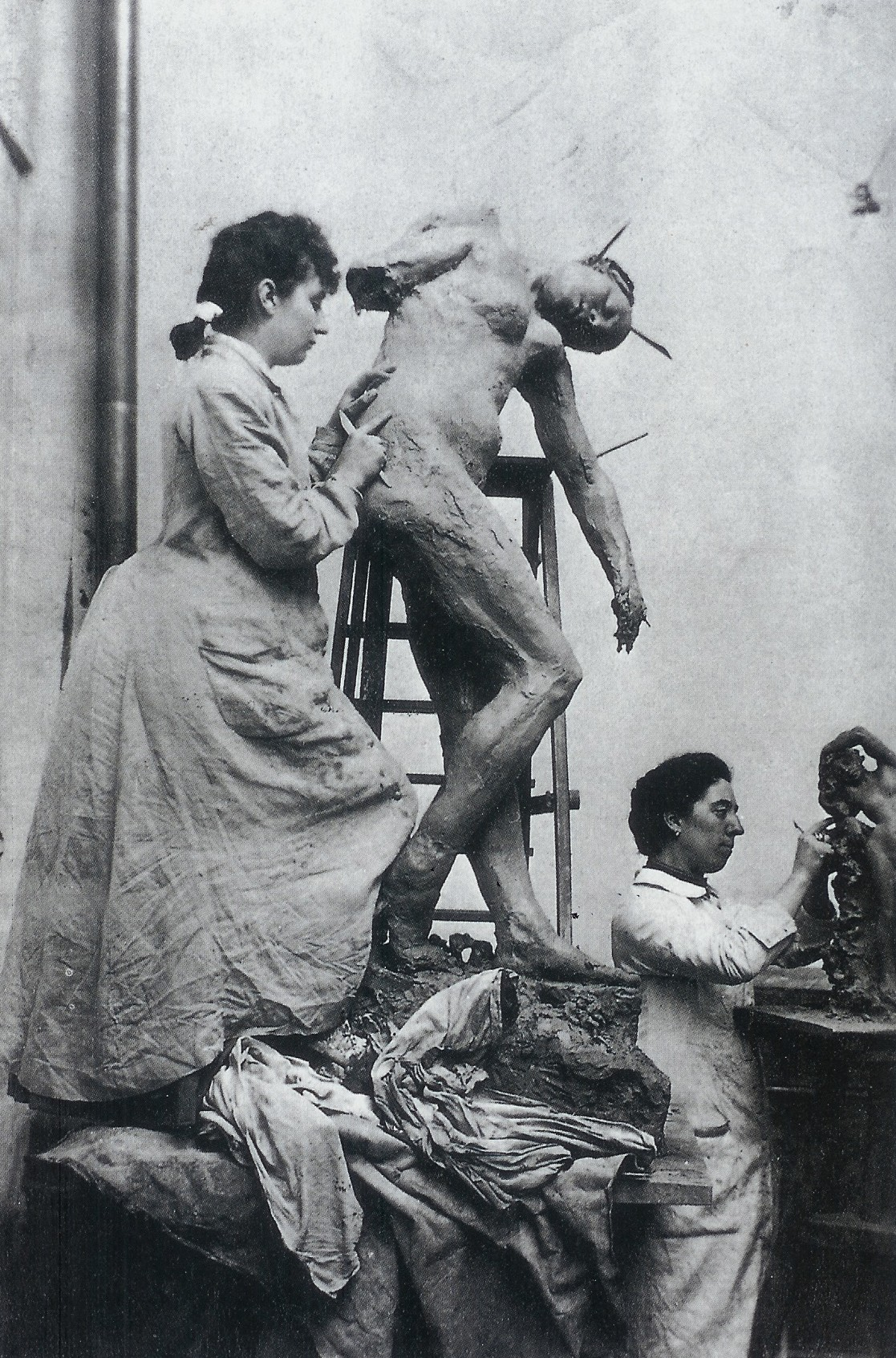 """Camille Claudel atelier"" by Unknown - http://the100.ru/en/womens/camille-claudel.htmlhttp://theredlist.fr/wiki-2-24-224-268-view-culture-art-fashion-profile-camille-claudel-auguste-rodin.html. Licensed under Public domain via Wikimedia Commons - http://commons.wikimedia.org/wiki/File:Camille_Claudel_atelier.jpg#mediaviewer/File:Camille_Claudel_atelier.jpg"
